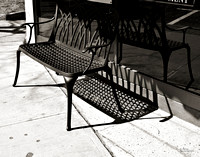 Shadows Of An Iron Bench