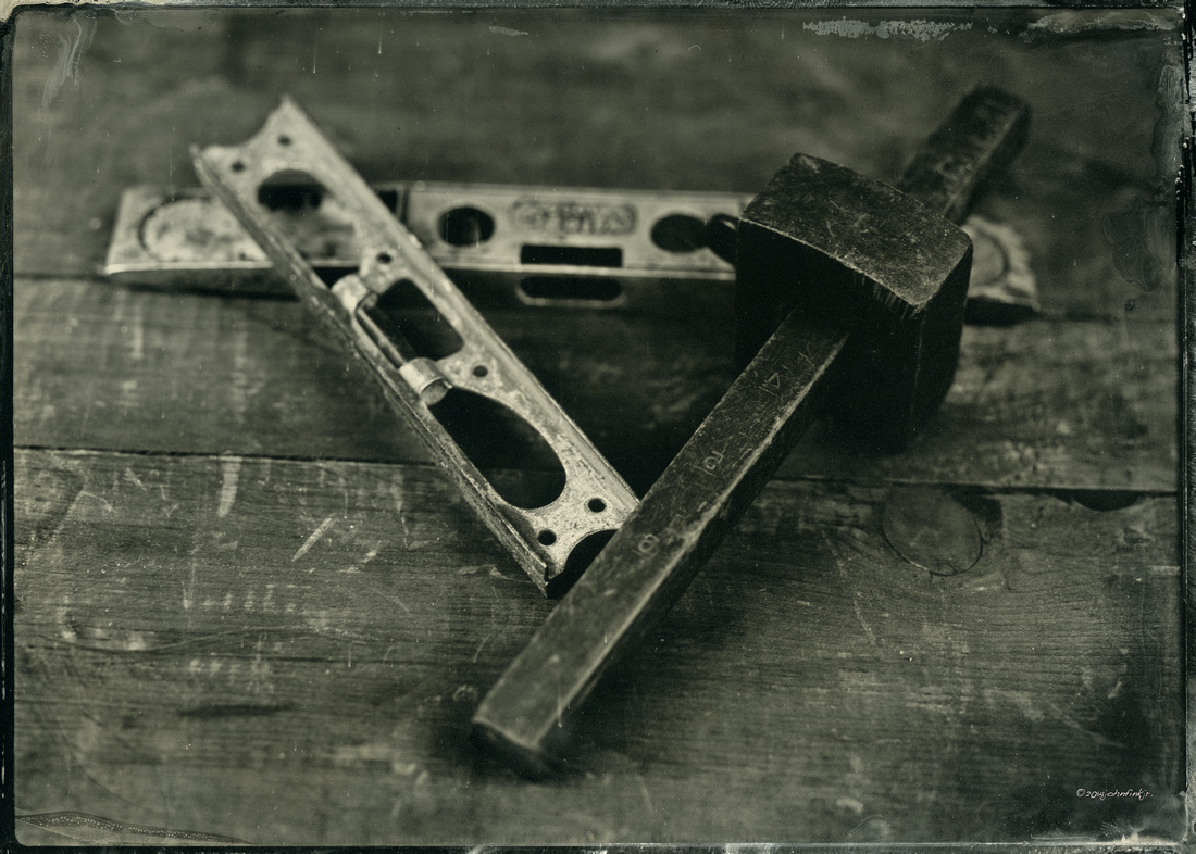 wet plate collodion, black aluminum, old things, memories, the past lives project, still life