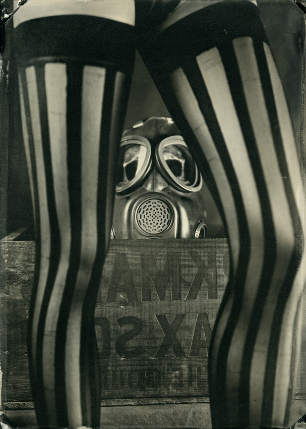 """Wet Plate Collodion International Collaborative Collection"", ""The Mask Series"", ""Images Captured from International Artists with a Common Prop Theme"""