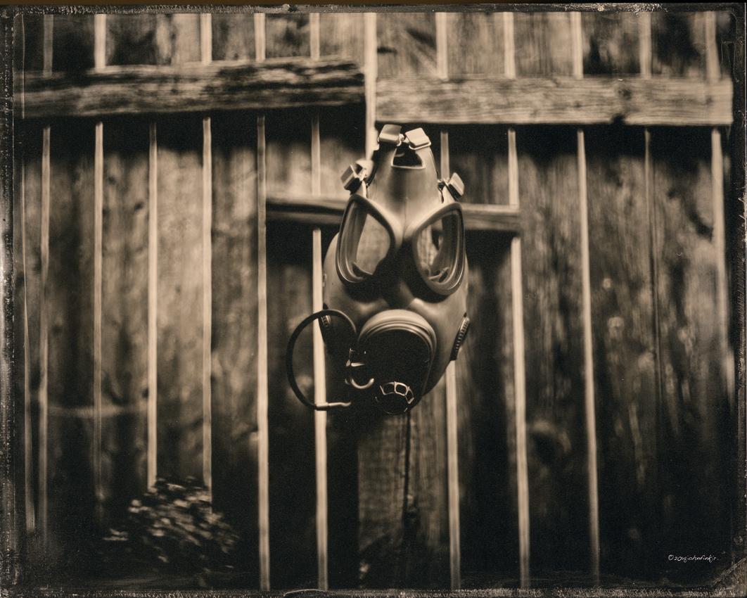 wet plate collodion, still life, portraiture, Masks, The Unforgotten